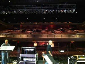 The Boys Setting Up In Mem Aud