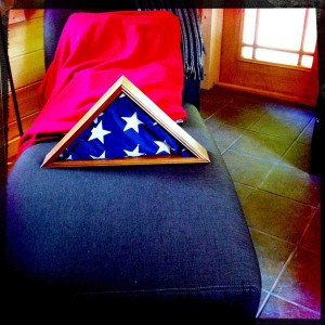 My Uncle Tarmo's Flag... handed to Grandmother Kaukonen in 1945