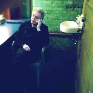 Jack relaxes backstage