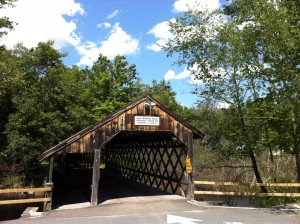 Covered bridge in front of the gig
