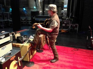 Steve Kimock examines the toys...