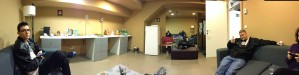 Our dressing room in panorama