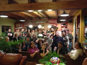 Traditional New Years at Kevin and Janet's... see if you can find me.