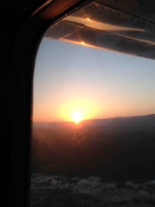 Sunrise on the way to Montego Bay