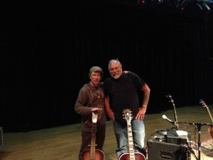 Steve and I seen here at sound check