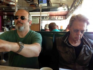 Phil and Jack ponder the bill of fare....