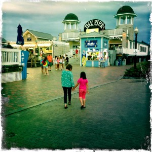 My girls at the amusement park in Old Orchard Beach... Maine