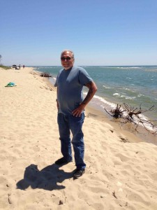 Yours truly on the beach at Chappaquiddick