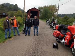 The boys... and a covered bridge