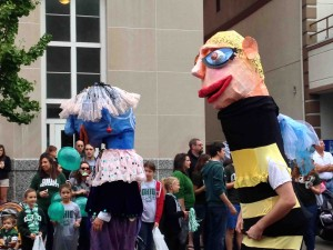 Giant puppets from Honey For The Heart