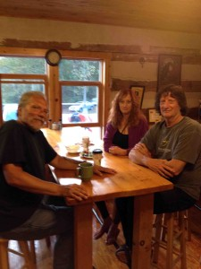 Jorma, Paty and Chris in the Beatrice Love Kitchen at the Ranch