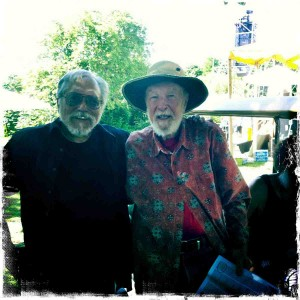 Pete Seeger and myself at Clearwater, 2011