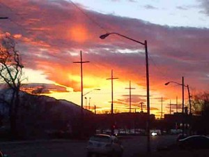 Sunset in Salt Lake City