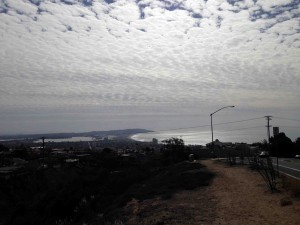 Looking back on the road up to Mt. Soledad