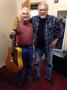 Pete Grant and myself, backstage...