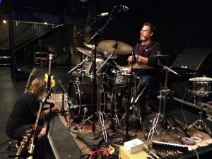 Justin and Pauly work on the kit