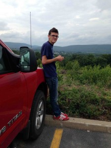 A young man and a truck... Pennsylvania truck stop