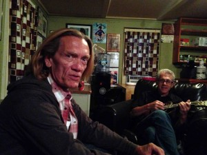 G.E. and Barry backstage at the T'House
