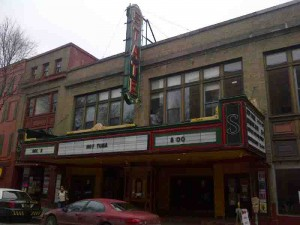 The first gig at the State Theater in Ithaca...