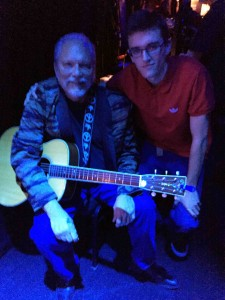 Zach and I sit stage right as Jack Casady opens the show...