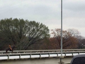 The highway past Fort Worth.