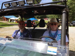 Marshall Ballew and Jerry Sullivan on the mule...