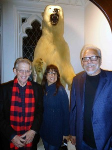 Jack, Nessa and Jorma with an unidentified polar bear