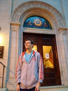 Zach at the entrance