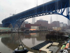 The Cuyahoga on the way to the Music Box