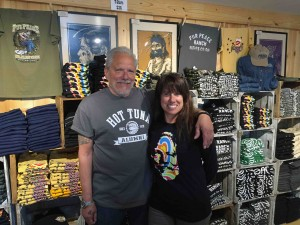 Nessa and I in the Company Store at the Fur Peace Ranch