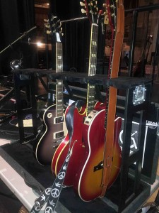 The Placid Purple Les Paul... The ES-345 and the Cherry burst Chet Atkins SST