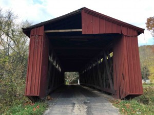 The old covered bridge off Rt. 13