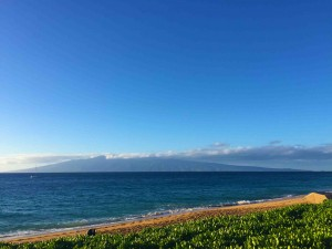 A last look at Molokai and a search for whales...
