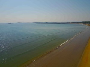 Drone's eye view of Old Orchard Beach