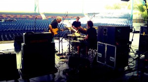 Soundcheck for the boys