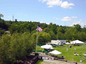Old Glory in Simsbury from the drone