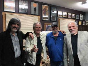 Larry, Spencer,our pal Wally and myself backstage