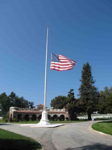 Old Glory at Los Angeles National Cemetary