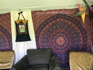 Our backstage tent at the festival