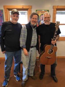 Bud Divens, Al Petteway and me... with the River Of Time guitar Bud made for me.