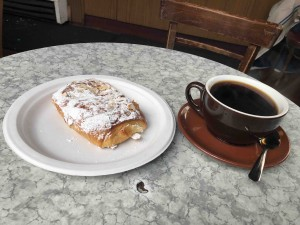 Almond Croissant and black coffee... just for you Paul!
