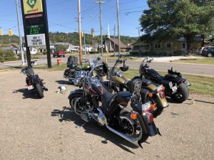The Sportsters fuel up in Nelsonville.