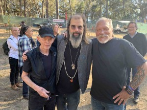 Jack Casady, Steve Earle and me... note Robert Plant in between Jack and Steve's head