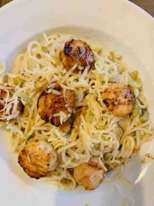 Maine scallops and pasta