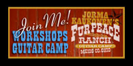 Join Me! Workshops Guitar Camp at the Fur Peace Ranch